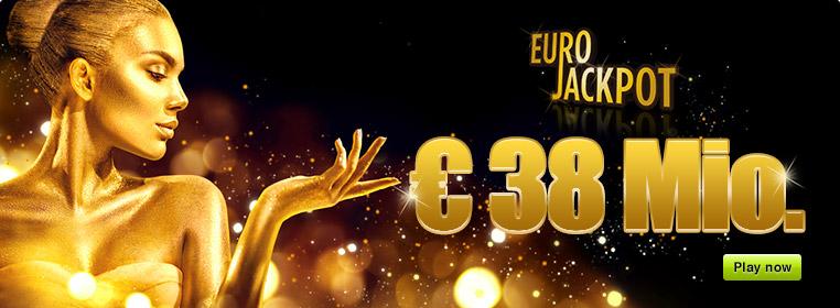 € 38 Million Jackpot with Eurojackpot