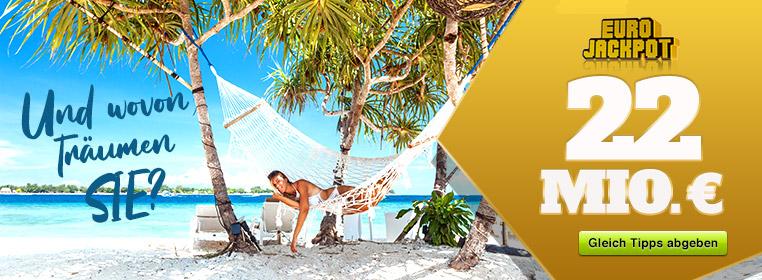Eurojackpot - die Superlotterie! Jetzt bei lotto-jaxx.de mitspielen und mindestens 10 Mio. Euro gewinnen!