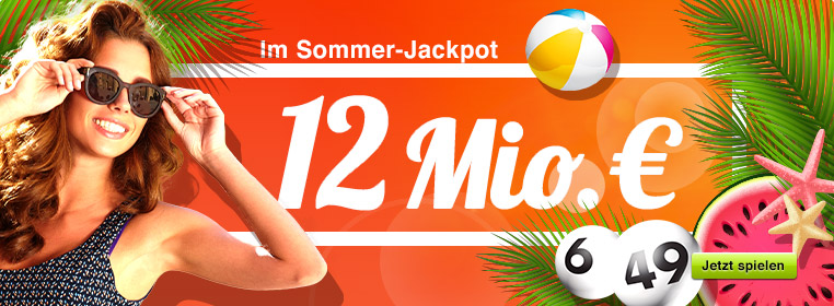 12 Mio. € im Jackpot bei Lotto 6 aus 49