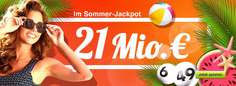 21 Mio. € im Jackpot bei Lotto 6 aus 49
