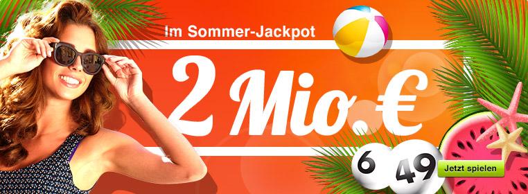 2 Mio. € im Jackpot bei Lotto 6 aus 49
