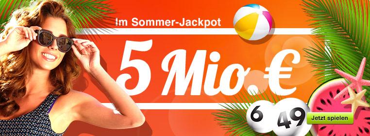 5 Mio. € im Jackpot bei Lotto 6 aus 49