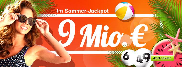 9 Mio. € im Jackpot bei Lotto 6 aus 49