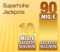 Eurojackpot bei JAXX - Superhohe Jackpots