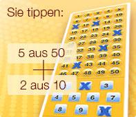 Eurojackpot bei JAXX - Gewinnen mit zwei Richtigen