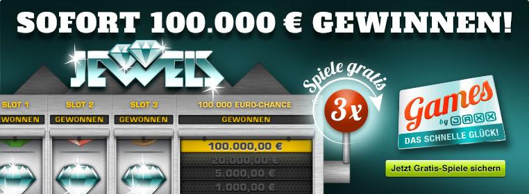 Drei Gratis-Drehs bei der Chance auf 100.000 Euro
