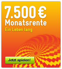 7.500 Euro Sofortrente mit der GlücksSpirale