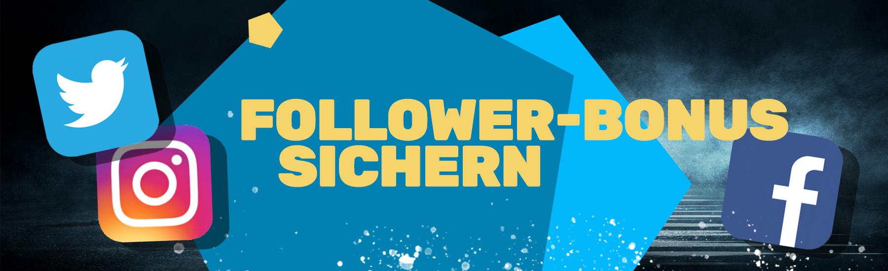 Bonus Aktion: Follower Bonus | JAXX Sportwetten
