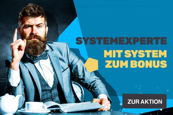 Der SystemExperte - Bonus-Aktion | JAXX Sportwetten