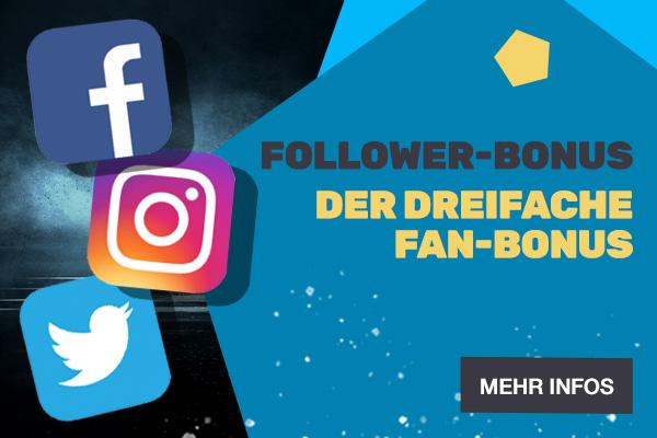 Follower Bonus - Bonus Aktion | JAXX Sportwetten